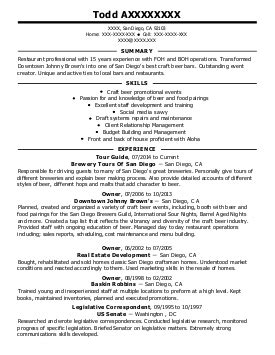food and beverage resume exles find the best food and