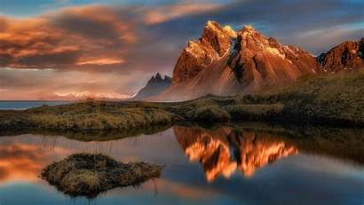 Mountain Landscape Clouds Nature Reflection Lake Water