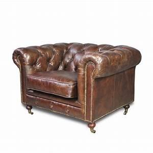 Fauteuil Cuir Marron Vintage : fauteuil chesterfield en cuir vintage marron patin capitonn anglais ~ Teatrodelosmanantiales.com Idées de Décoration
