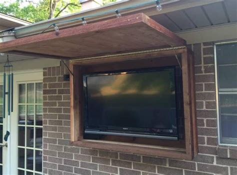 outdoor tv cabinet enclosure outdoor tv cabinet made of cedar lumber