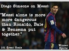 Diego Simeone says Barcelona's Leo Messi is better than