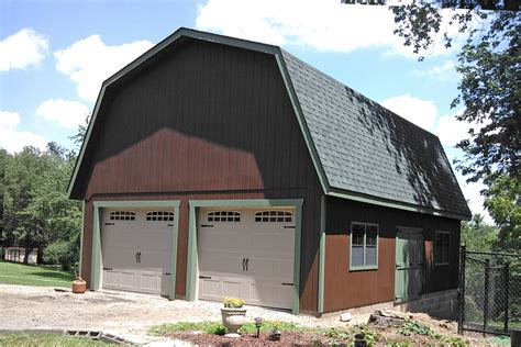 two car garage detached two car garages from the amish in pa