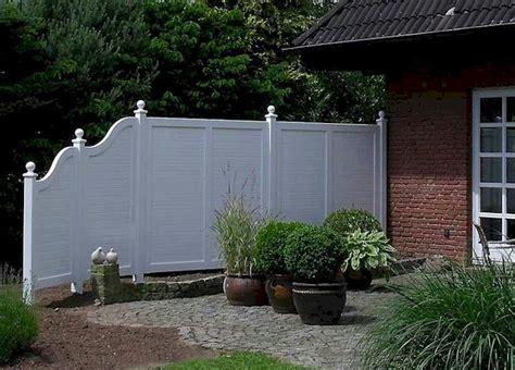 Sichtschutz Garten Exklusiv by Sichtschutzelemente Holz Wei 223 Lilashouse