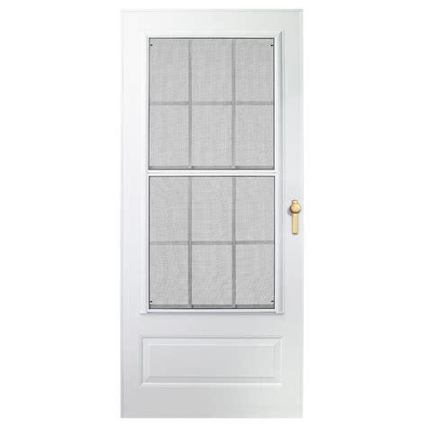 emco screen door emco 32 in x 80 in 300 series white universal colonial