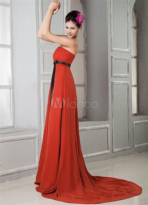 empire du mariage 10eme robe de bal taille empire en chiffon bustier