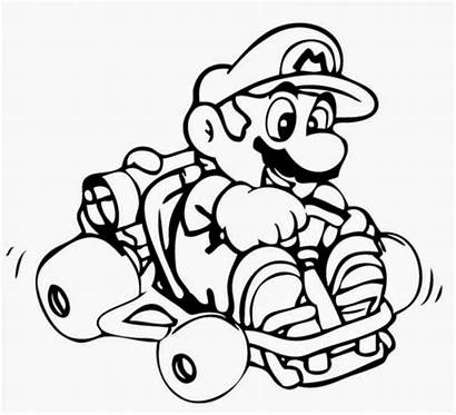 Mario Coloring Kart Pages Super Boys Printable