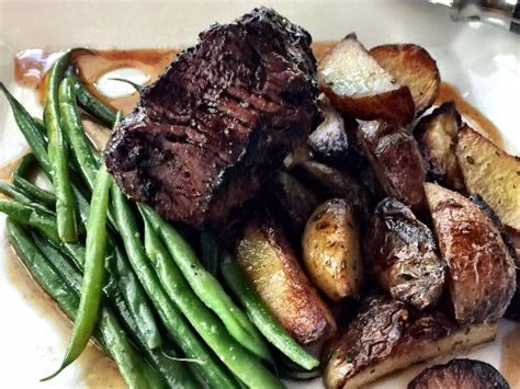 Filet Mignon,roasted Potatoes, Green Beans  Picture Of