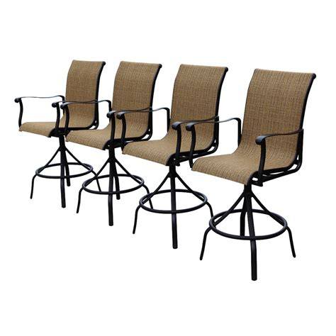 shop allen roth safford brown aluminum patio barstool