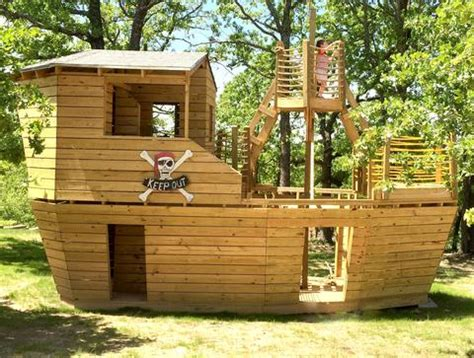 Backyard Pirate Ship Plans by Build A Pirate Ship Playhouse 8 Designs You Can Build