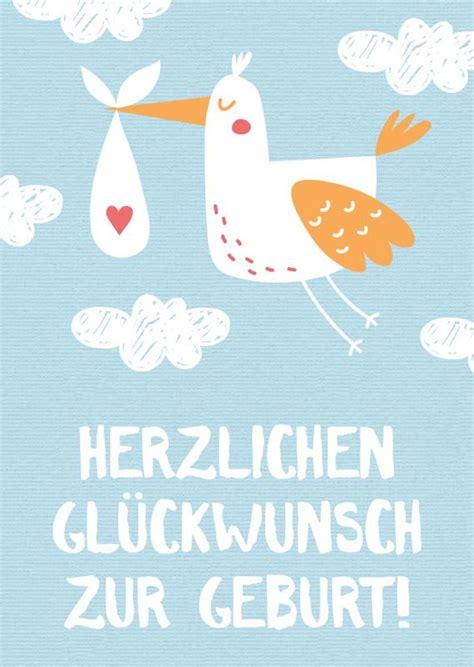 glueckwuensche zur geburt  kostenlose babykarten otto