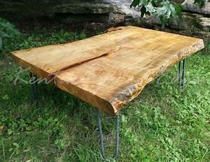 handmade maple burl live edge coffee table wood coffee With maple live edge coffee table
