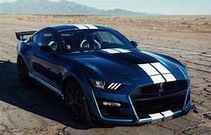 Wallpaper blue, Mustang, Ford, Shelby, GT500, 2019, old asphalt images for desktop, section ford ...