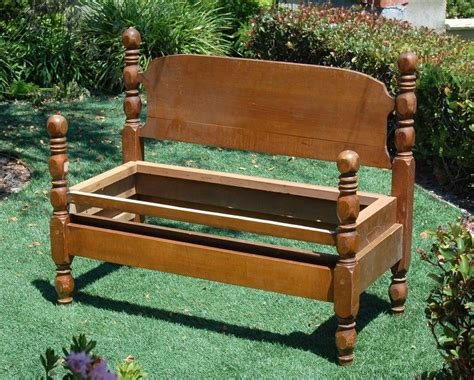 Bed Into Bench by Bed Turned Into Bench Home Decor Repurposing Bed Frame