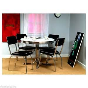 retro table chairs s chrome dining vintage kitchen set