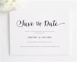 wedding programs with ribbon stylish script save the date cards save the date cards