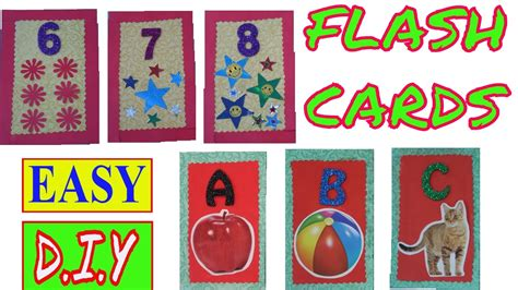 Flash Cards  Alphabet Flash Cards  Number Flash Cards  How To Make Flash Cards  Diy Flash