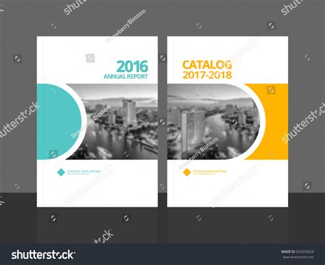 cover design annual report business catalog stock vector
