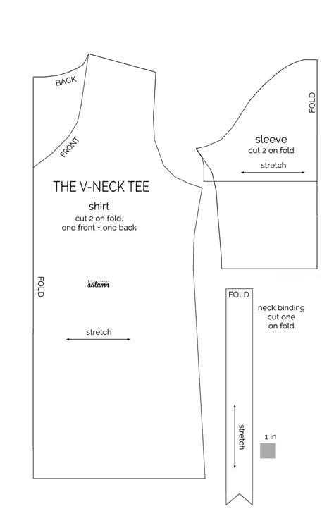 I've made a tutorial for you! How to make a v-neck t-shirt {sewing pattern and tutorial ...