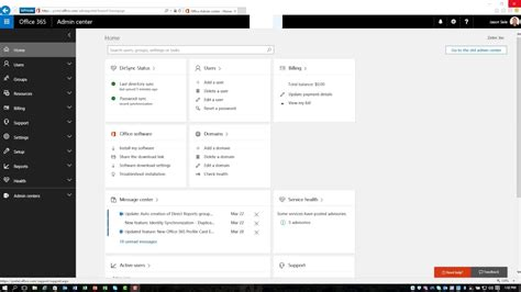 Office 365 Portal Search by Office 365 Admin Center