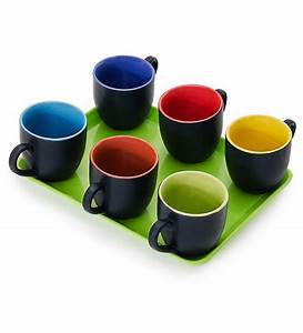 Somny Regular Tea Cups Black Multi Color by Somny Online ...