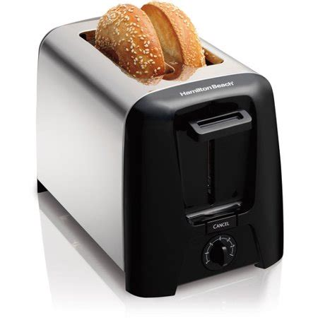 Coolest Toaster - hamilton cool wall 2 slice toaster model 22614z