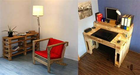 bureau en palette de bois que faire avec des palettes plus de 38 créations originales