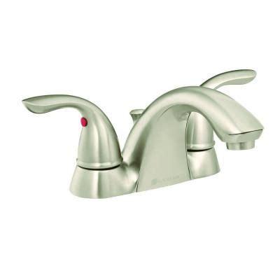 Glacier Bay Bathroom Sink Handles by Glacier Bay Builders 4 In Centerset 2 Handle Low Arc