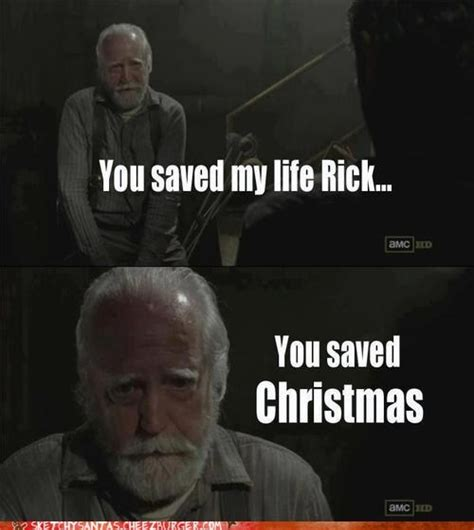 Twd Memes - saved christmas the walking dead know your meme