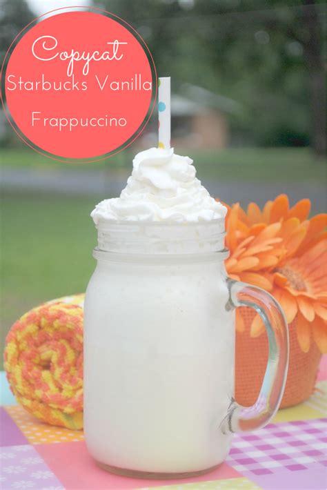 copycat starbucks vanilla frappuccino recipe budget earth