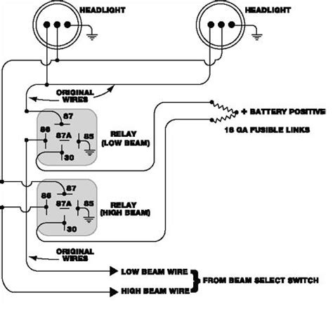 wiring diagram headlight relay wiring diagram chevy brake