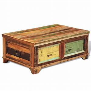 vintage reclaimed solid wood chest coffee table buy With vintage reclaimed wood coffee table