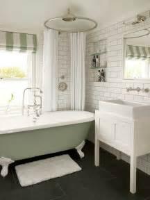 white and green bathroom vintage bathroom leivars