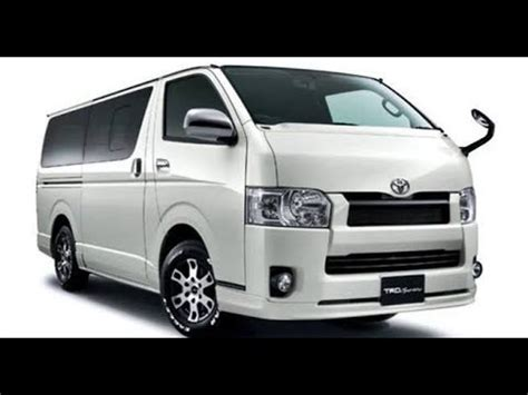 toyota hiace redesign  generation youtube