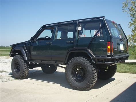 green jeep cherokee lifted green jeep cherokee xj