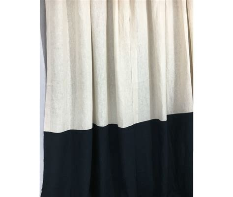 color block curtains linen color block curtains