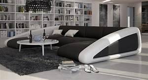 Grand canapé d'angle original en cuir HOPE LARGE V2, 2 085,00