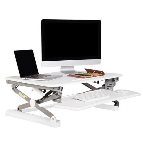 height adjustable standing desk riser flexispot 35 in w platform height adjustable standing