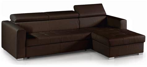 canapé simili cuir marron canapé d 39 angle convertible avec têtières simili cuir