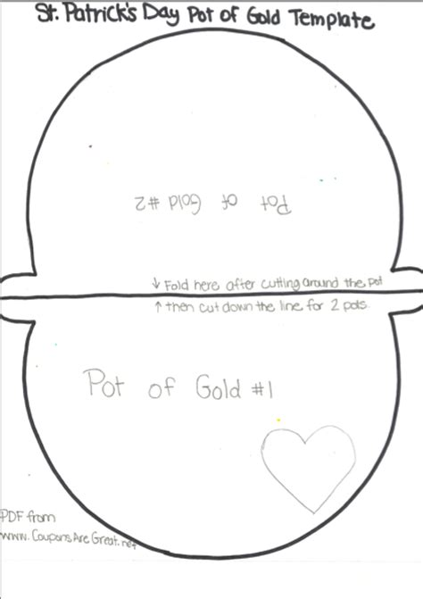 pot of gold template st s day pot of gold craft