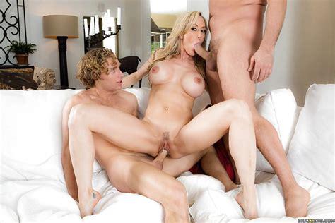 Blonde Milf Cougar Brandi Love Giving Blowjobs In Mmf