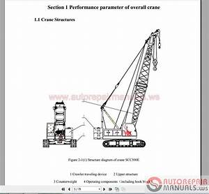 Sany Hydraulic Crawler Crane Scc500e Complete Manual