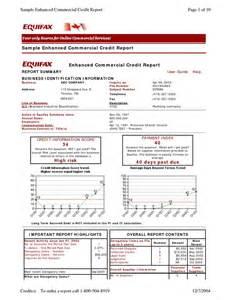Credit Bureau Report Sle by Credit Report Sle Credit Report Equifax Credit