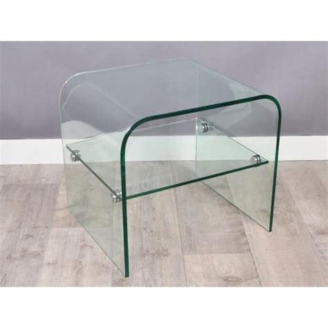 table bout de canapé en verre design bout de canapé hestia en verre achat vente bout de
