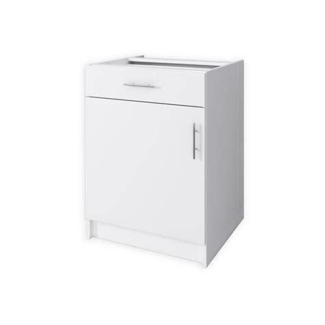 meuble cuisine bas 60 cm obi meuble bas de cuisine 60 cm blanc mat achat