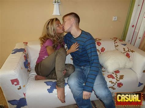 Casual Teen Sex Guy Bangs Blonde Gal By Young Libertines