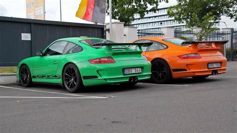 porsche  gt rs green  orange youtube