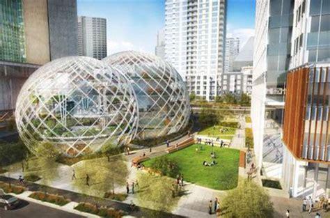 siege de apple amazon un nouveau siège social à seattle dans des bulles