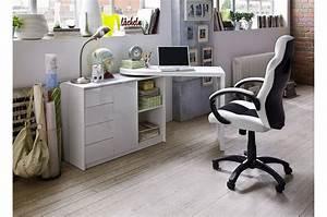 Bureau Blanc Avec Rangement : bureau moderne blanc avec rangement pour bureau ~ Teatrodelosmanantiales.com Idées de Décoration