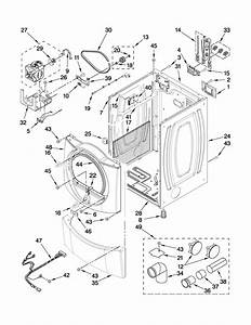 Cabinet Parts Diagram  U0026 Parts List For Model Wed9500tw3