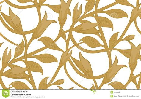 seamless floral wallpaper pattern stock illustration